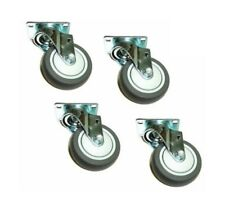 Clearance Four Swivel Caster 4 Soft Rubber Wheel 2 12 X 3 58 Plate