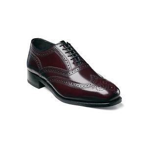 Florsheim Men Lace Up Wingtip Oxfords Lexington Size US 13D Burgundy Leather`