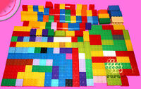 200 Pieces LEGO Duplo BULK LOT 4+ lbs Assorted Color Building Bricks Blocks Toys
