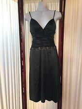 maria bianca nero Dark Green Silk Dress Sz S
