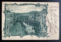 AK Litho Passepartoutkarte Tenerife Misa de Campana gestempelt St. Cruz 1903