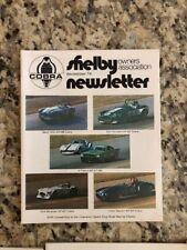 Shelby Cobra Owners Association Newsletter December 1974 New MINT Rare