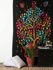 Hippie Elephant Tree OF Life Mandala Wall Hanging Tapestry Tie Dye Bedding Throw