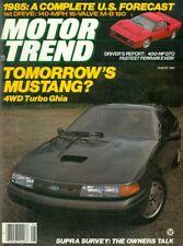 1984 Motor Trend Magazine: Tomorrow's Mustang 4WD Turbo Ghia/400-HP GTO Ferrari