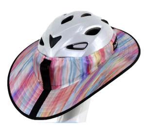 Da Brim Sporty Cycling Helmet Visor Pastel Ribbons (NO HELMET)