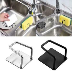2x Adhesive Stick Sink Sponge Holder Kitchen Drain Storage Stainless Steel Rack