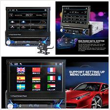 "7"" HD 1-Din Car Audio Video Bluetooth MP5 Player FM Handfree Contraction Screen"