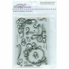 Clear Stamps Set FLOURISH FRAMES by Stampendous (14 stamps)