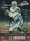 Chad Pennington Signed Auto 2001 Playoff Absolute New York Jets Card - COA - NFL