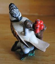 Göbel Figur Haubenmeise Vogel an Ast, Porzellanfigur, TOP