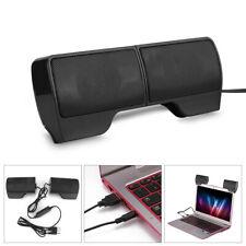 Mini Speakers Usb Clip-On Computer Sound Bar Stereo Desktop Laptop Pc Notebook