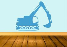 Childrens Digger Wall Art Sticker Quote Decal Vinyl Transfer
