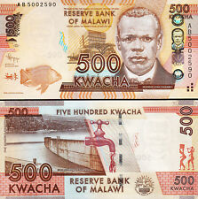 Malawi 500 Kwacha, 2012, Unc, Consecutive 20 Pcs Lot, P-61a, Prefix Ab