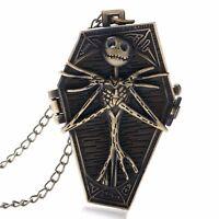Jack Skellington Pocket Watch Necklace Tim Burton The Nightmare Before Christmas