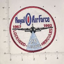 Royal Air Force 25 Years Patch - Lockheed - Hercules