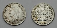 BOLIVIA 1861 PTS FJ 1/2 SOL MONEDA PLATA RAYA ,RARA ASÍ, EBC ,KM# 133.2 ,  1.26g