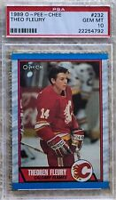 1989 O-PEE-CHEE THEO FLEURY RC PSA 10 7 TIME ALL-STAR CARDREGISTRY