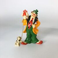 "Vintage Clown with dog figurine  5.5"" tall"