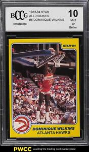 1983 Star All-Rookies Dominue Wilkins ROOKIE RC #8 BCCG 10