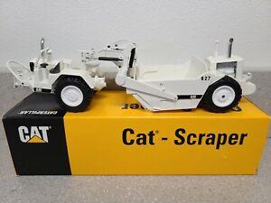Caterpillar 627 Push-Pull Scraper - White - NZG 1:50 Scale Model #127 New!