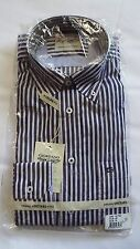Giordano Vineyard modern fit blue striped long sleeved shirt size medium BNIP
