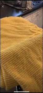 vintage bedspread yellow candlewick single bed bedspread