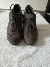 Clarks Used Grey Suede Ankle Boots. 4 D.