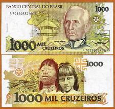 Brazil, 1000 cruzeiros, ND (1991), P-231, UNC > Native Children