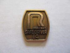 vintage Roadway 14yr Trucker Trucking Safety Award Safe Driving Pin