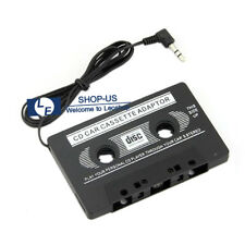 New Black Car Cassette Tape Audio 3.5mm Aux Adapter for Mp3 Mp4 Cd Ipod iPhone