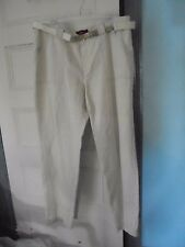 "BIANCA Jeans Pants 18 US NEW Beige 33""L Linen & Cotton"