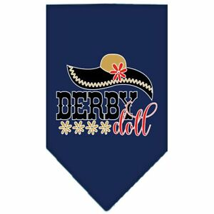 Derby Doll Screen Print Bandana Navy Blue