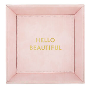 CB Gift Heartfelt Collection Pink Gold Foil Trinket Tray Hello Beautiful