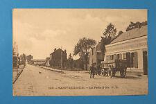 Aisne 02 AK CPA SAINT QUENTIN 1900-15 la rabat d 'oie Wagon maisons rue des personnes