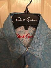 NWT Mens Robert Graham Long Sleeve Acquafin Shirt Size Small