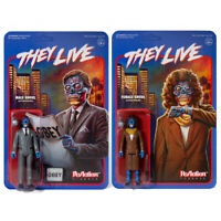 SUPER 7 REACTION THEY LIVE MAKE AND FEMALE GHOUL 3.75 INCH ACTION FIGURES 2 PACK