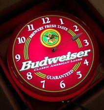 Budweiser Illuminated Clock New Large Bar Anheuser-Busch Beer Original Box