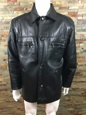 Button Faux Leather Collared Other Men's Jackets