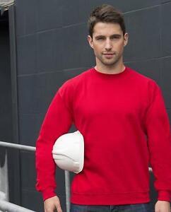 Classic Sweatshirt Pullover Bau robust schwarz blau grün rot S-4XL