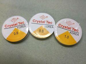Crystal Tec clear beading elastic 0.6 / 0.8 / 1mm thickness. 10 metres per reel