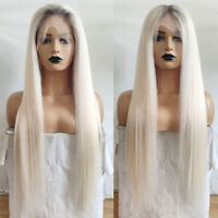 10A Brazilian Hair Ombre #60 Blonde Full Lace Human Hair Wigs Lace Front Wigs