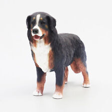 Resin Mini Bernese Mountain Dog Hand Painted simulation model Figurine Statue