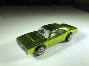 Hot Wheels Restored Red Line Custom Dodge Charger Spectra Flame Apple Green