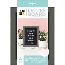 """American Crafts DCWV 5"""" x 7"""" Standup Letter Board - Black/Grey Frame, 188 Pieces"""