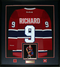 Maurice Richard Montreal Canadiens Signed jersey NHL Hockey Collector Frame