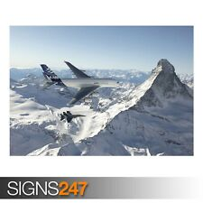 F 18 HORNET AND AIRBUS A380 (AC193) ARMY POSTER - Poster Print Art A0 A1 A2 A3