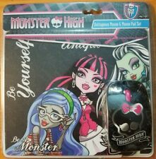Monster High OPTICAL MOUSE & Mouse Pad NEW SEALED NOS USB CORDED MATTEL
