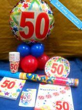 KIT FESTA 50 ANNI Addobbo completo 50° compleanno Tavola Festoni Sparacoriandoli