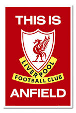 Liverpool FC Poster This Is Anfield White Framed Ready To Hang Frame Free P&P
