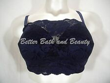 Comfort Choice 27-0641-4 Camisole Lace Wire Free Bra 54B Navy Blue